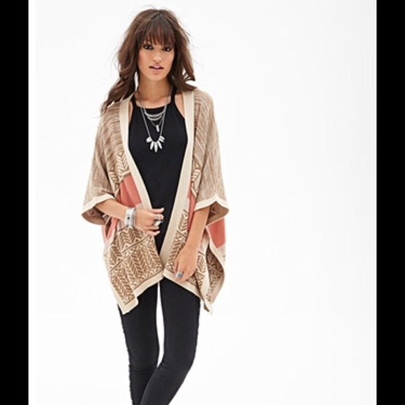 Forever 21 Sweaters Free Spirit Kimono Tribal Sweater Poshmark
