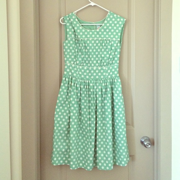 259820475f DownEast Dresses   Skirts - NWOT DownEast Mint Green and White Polka Dot  Dress