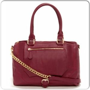 Nila Anthony Handbags - 🎉HP8/1🎉Burgundy Vegan Leather Convertible Bag