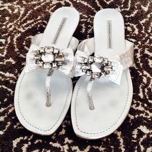Vera Wang Silver Crystal Sandals