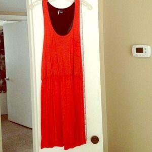 Orange Urban Outfitters Jersey Dress