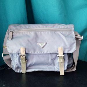 buy prada handbags - 34% off Prada Handbags - Prada classic nylon backpack baby blue ...