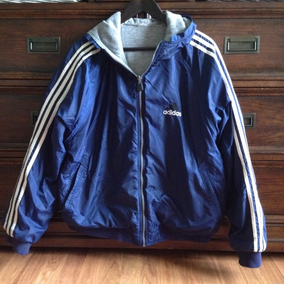 c872e82ad554 Adidas Outerwear - Adidas reversible blue and grey jacket