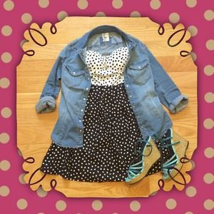 Dresses & Skirts - 🌟HP 8/1🌟Black and White Hearts Dress