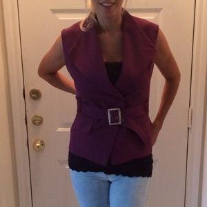 Taylor made purple vest.