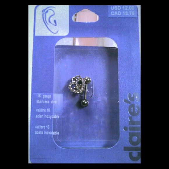 Claires Jewelry Claires Nwt 16g Stainless Steel Cartilage Earring