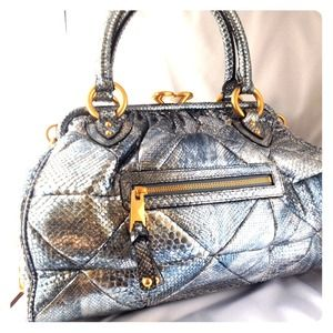 Marc Jacobs Python Metallic Bag--Unused!!!