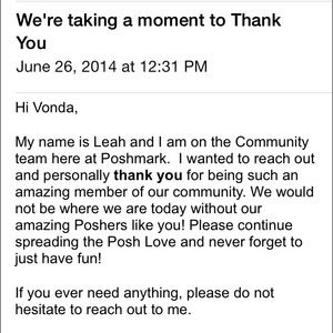 Poshmark Accessories - A Thank You Note from Poshmark❤️