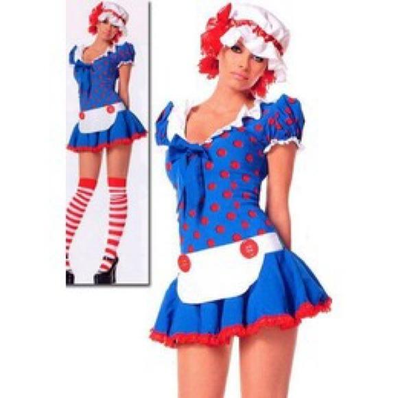 Raggedy Ann Rag Doll Girl Kids Halloween Costume