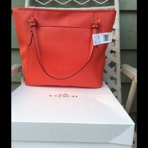 734d05feef3 Coach Bags   Nwt Peyton Leather Zip Top Tote Handbag Red   Poshmark