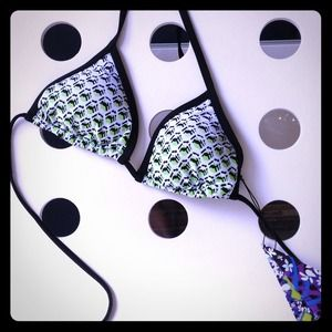 Peter Pilotto for Target Other - White geometric triangle string bikini swim top