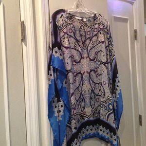 Silky tunic shirt