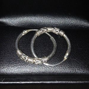 Jewelry - Small silver hoops.