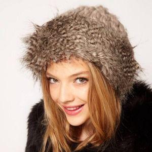 Asos Faux Fur Grey Cossack Hat