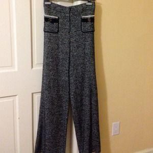 Carolina Herrera Black/White Polyester Blend Pants