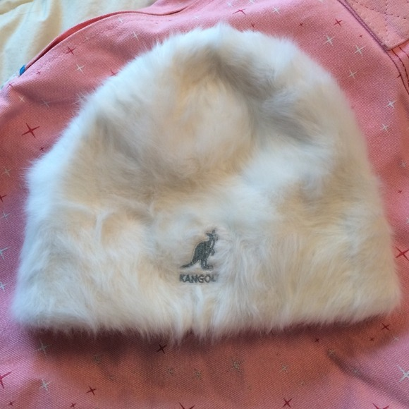 Kangol Accessories - Kangol white fuzzy beanie hat LIKE NEW! 915383aacc7d
