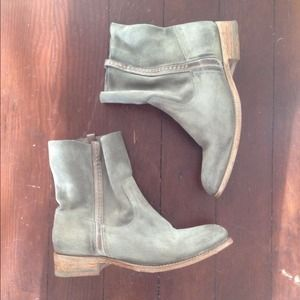 n.d.c. Shoes - n.d.c. Made By Hand Gray Suede Ankle Boots
