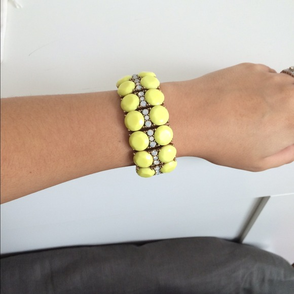 J. Crew Jewelry - 🎉HP J.Crew Neon Yellow Cuff 3