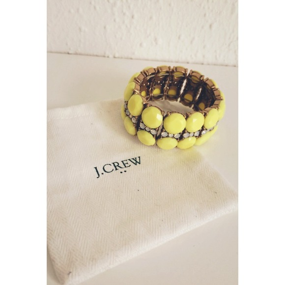 J. Crew Jewelry - 🎉HP J.Crew Neon Yellow Cuff 4