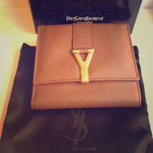 %YSL leather wallet