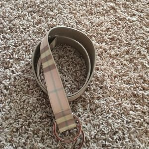 Burberry Accessories - Pink Burberry belt