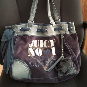 Navy blue velour Juicy Couture day dreamer