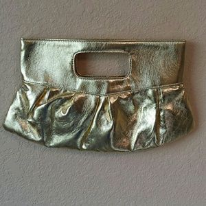 Clutches & Wallets - Gold clutch