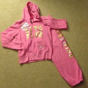 VS Pink Hoodie + Sweatpant Combo, Size SM