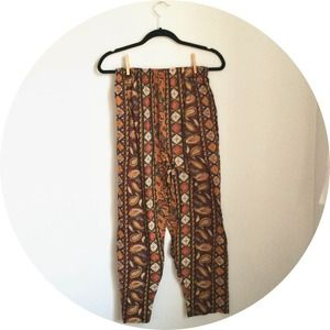 Vintage Paisley Cotton Lounge Pants