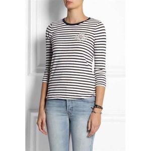 NWT J. Crew Striped Embellished T-Shirt