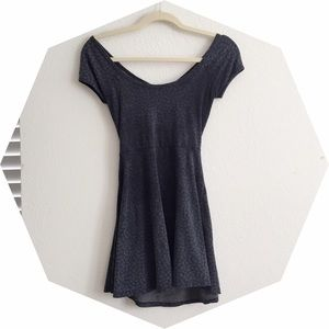 RARE Floral Brandy Melville Grey Bethan Dress