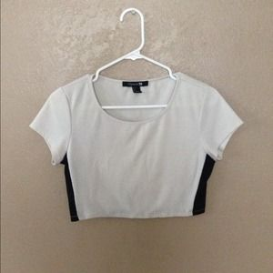 Color block crop top