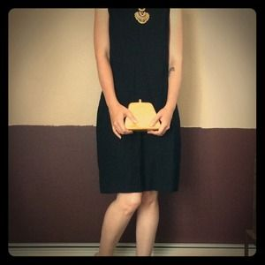 Élan vintage butterscotch lucite evening bag