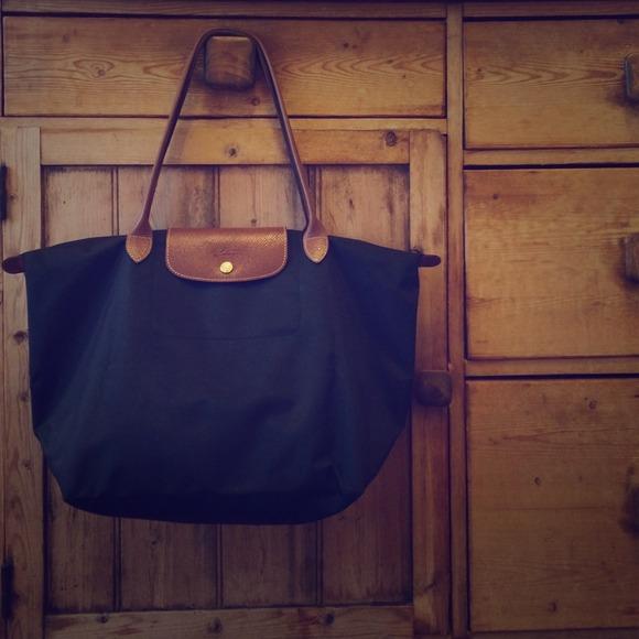 Longchamp Handbags - Longchamp Le Pliage Large Shoulder Tote in Black 23d48320317ae