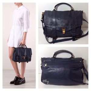 PROENZA SCHOULER PS1 LARGE SATCHEL - MIDNIGHT