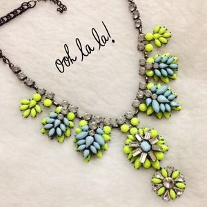 New Gorgeous Lime Crystal Necklace!