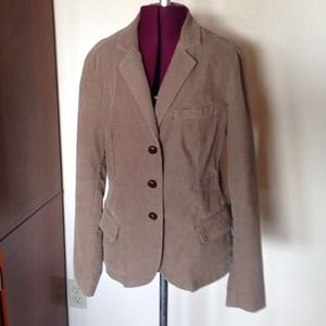 J. Crew Tan Brown Corduroy Blazer Jacket S