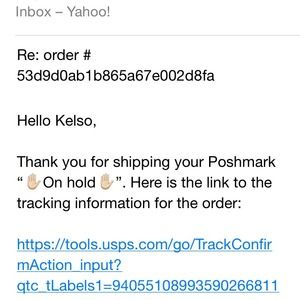 Other - Shipping confirmation