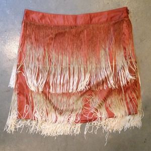 Forever 21 Dresses & Skirts - Ombré fringe mini skirt