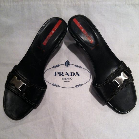 buckled slider sandals - Black Prada For Sale The Cheapest YzYnl