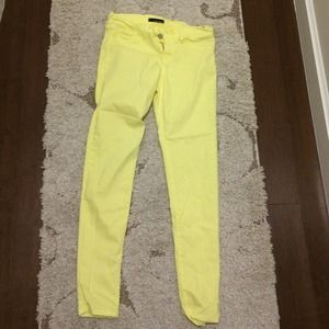 flying monkey yellow denim jeans