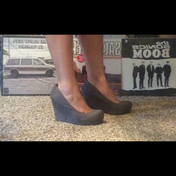 62% off ALDO Shoes - ⚡️Sale⚡️Aldo gray wedge heels size 36 or ...