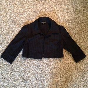 Express Black Cropped Jacket Blazer