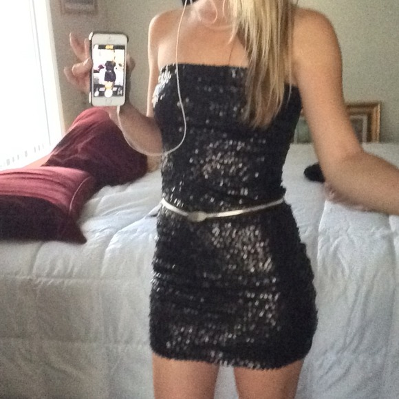 Black Sequin Top Forever 21 Forever 21 Dresses Black
