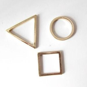 60 cheap monday jewelry geometric midi rings from