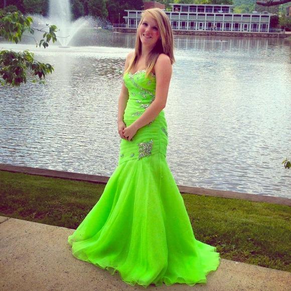Dresses | Bright Green Prom Dress | Poshmark