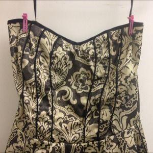 96ff9173d88 torrid Dresses - Gold Strapless Wallpaper Torrid Dress With Pockets