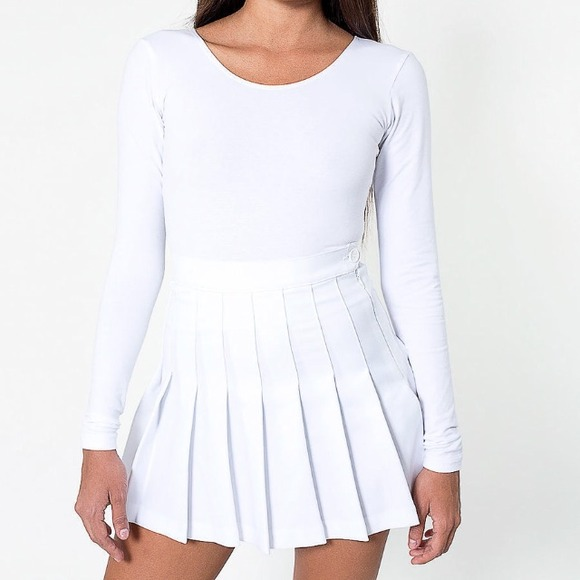 0a7c2d76e2ce American Apparel Dresses   Skirts - White American Apparel Tennis Skirt