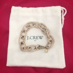 Authentic J .Crew Pave Link Bracelet