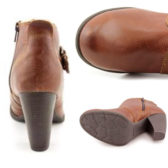 53 born boots new born boc brown leather ankle